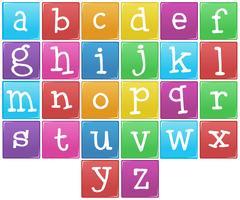Englisches Alphabet von A bis Z vektor