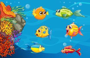 Under vattnet vektor