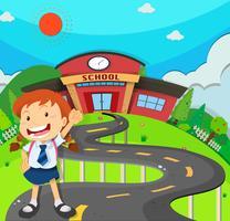 Mädchen zur Schule gehen