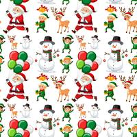 Seamless mönster av jul vektor