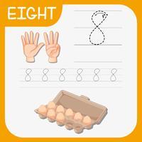 Nummer åtta spårar alfabetet kalkylblad