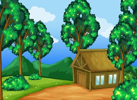 Trähytt i skogen