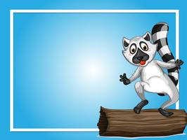 Gränsmall med söt lemur