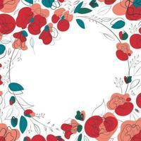 schönes Wildblumensommerdesign für jeden Zweck. trendige Blumenvektorillustration. Schönheit saisonales Modedesign. romantischer Mohnhintergrund. Frühlingsblumenvektorillustration. weißer Hintergrund vektor