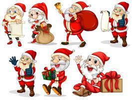 Glückliche Weihnachtsmänner vektor