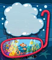 Undervatten scen med havsdjur vektor