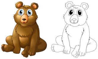 Tierentwurf für Grizzlybär