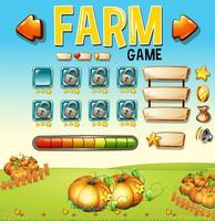 Spielschablone mit pumpking Garten im Hintergrund