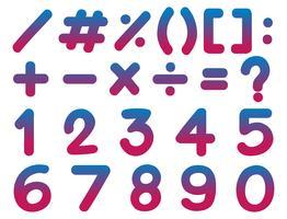 Nummer och matte tecken