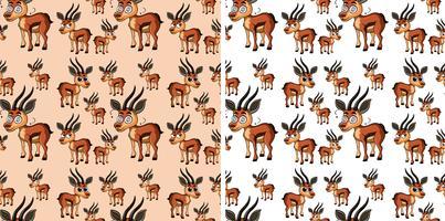 Sömlös bakgrund med små hjortar