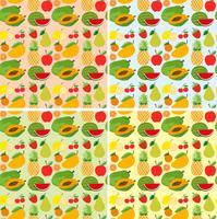 Sömlös bakgrundsdesign med färska frukter vektor