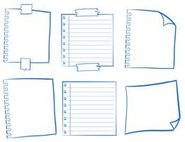 Doodle design för tomma papper vektor
