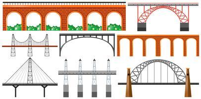 Unterschiedliches Design der Brücken