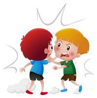 Wütende Jungs kämpfen miteinander