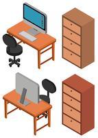 Design 3D für Computer auf Tabelle