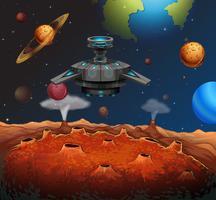 UFO im Weltraum vektor