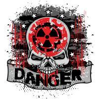 industrielles Emblem mit Totenkopf vektor
