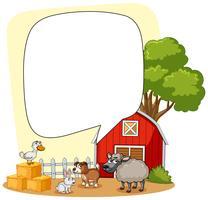 Bauernhofszene mit vielen Tieren
