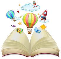 Ballons und Raketen im Buch