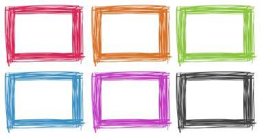 Rahmendesign in verschiedenen Farben vektor