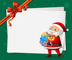 Santa på julkortsmall