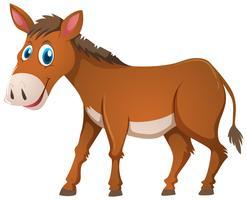 Esel mit brauner Haut vektor