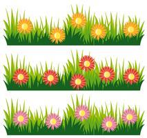 Sömlös naturdesign med blommor