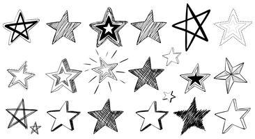Gekritzelkunst für Sterne vektor