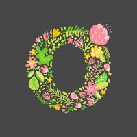 Blumensommer Buchstabe O vektor