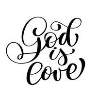 Gott ist christlicher Zitattext der Liebe vektor