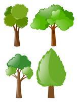 Verschiedene formen von bäumen vektor