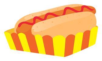 Hot Dog im Papierfach