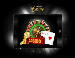 online casino design banner. vektor