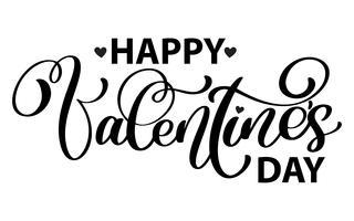Lycklig Alla hjärtans dag typografi affisch vektor