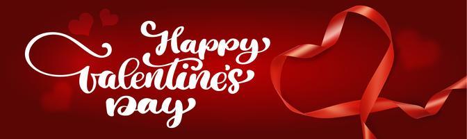 Textbeschriftung glückliche Valentinstagfahnen vektor