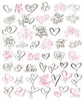 Große Satzhandgeschriebene Beschriftung über Liebe