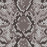 Snakeskin sömlöst mönster. Realistisk textur av orm eller annan reptilhud. Grå färg. Vektor illustration