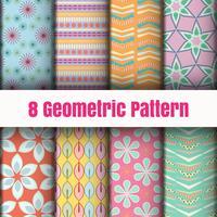 Geometrisk vektor mönster tapeter bakgrund yta texturer
