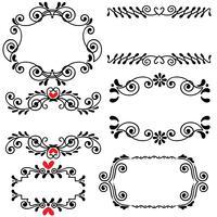 Handritad skisserad linje gräns bröllop konst vektor illustration