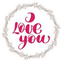 Ich liebe dich mit Kranz