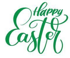 Glad påsk Handritad kalligrafi och penselpennbokstäver
