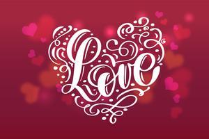 Valentinstag abstrakten Hintergrund vektor