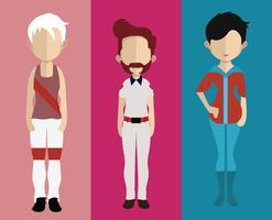 People-Avatar mit Ganzkörper- und Rumpfvariationen