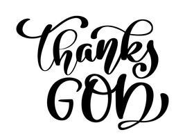 Gott sei Dank christliches Zitat vektor