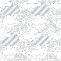 Moln på himlen, zentangles stil vektor