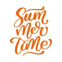 Sommerzeit, die Vektorlogo illusrtation beschriftet
