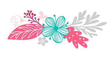 Blumenstrauß und florale Elemente