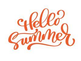 Hallo Sommervektor handgeschriebene Abbildung