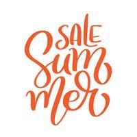 Summer Sale Kartenvorlage. Handgezeichnete Schriftzug