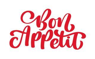 Inspirerande citat Vector Bon Appetit bokstäver